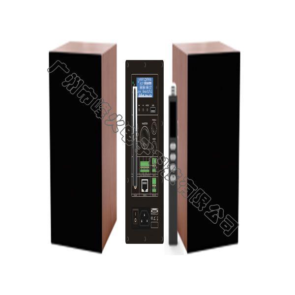 IP网络多媒体无线教学有源壁挂式扬声器 2x50W 无线话筒30米 多音源 豪华版