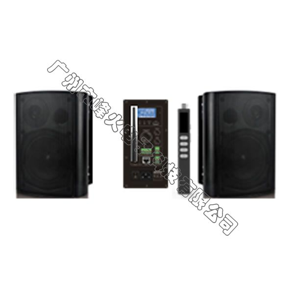 IP网络多媒体无线教学有源壁挂式扬声器 2x30W 无线话筒30米 多音源 豪华版