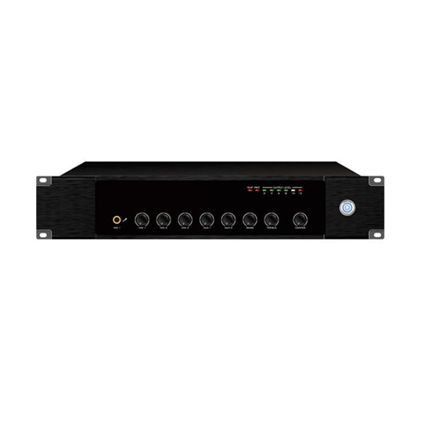 IP网络单向点播合并式广播功放 240W